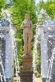 Lower Gardens of the Petergof Palace in Saint Petersburg Stock Image