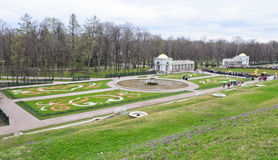 The Lower Gardens of Peterhof palace Stock Photo