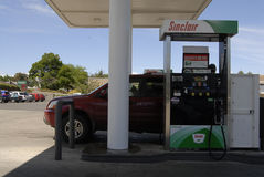Lower gas price in Juliaette Latah county Stock Photography