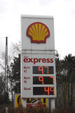 Lower gasoline price in denmark Royalty Free Stock Photography