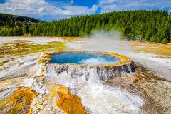 Hot Spring boils in Yellowstone National Park royalty free stock photography