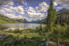 Lower Green River Lake with Square Top Mountain. Stock Photo