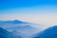Lower Himalayas. As seen from Nainital, India Royalty Free Stock Images