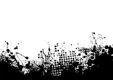 Lower ink splat. Black ink splat border along the bottom edge Royalty Free Stock Image