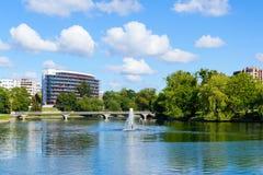 Lower lake of Kaliningrad Stock Photo