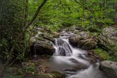 The lower level of Anna Ruby Falls stock photo
