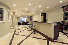 Lower level with bar area Stock Photography