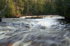 Lower level Tahquamenon falls. In the Upper peninsula in Michigan Stock Photos