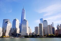 Free Lower Mahattan And One World Trade Center Or Freedom Tower Royalty Free Stock Images - 176303889