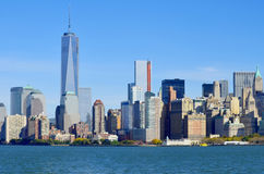 Lower mahattan and One World Trade Center Royalty Free Stock Photos