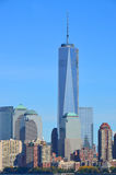 Lower mahattan and One World Trade Center Royalty Free Stock Image
