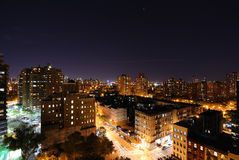 Lower Manhattan. Skyline of lower manhattan in New York City with public housing high rises Stock Image