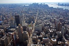 Lower Manhattan. Aerial view of lower Manhattan Royalty Free Stock Photos