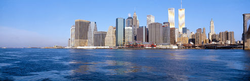 Lower Manhattan. East River in New York stock image