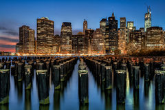 Lower Manhattan image stock