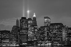 Lower Manhattan. On the night of festival of lights Stock Image