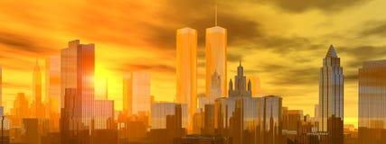Lower Manhattan illustrazione di stock