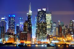 Lower Manhattan. From across the Hudson River in New York City Stock Photos