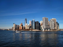 Lower Manhattan Along Waterfront Royalty Free Stock Photo