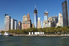 Lower Manhattan and Battery Park Royalty Free Stock Images