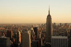 Lower Manhattan bij schemer royalty-vrije stock foto
