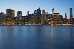 Lower Manhattan in blue Stock Images