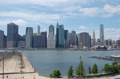 Lower Manhattan from Brooklyn Heights Royalty Free Stock Image