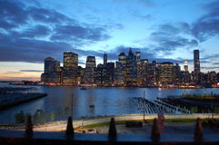 Lower Manhattan from Brooklyn Heights Royalty Free Stock Photo