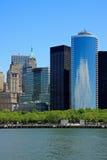 Lower Manhattan buildings Royalty Free Stock Photo