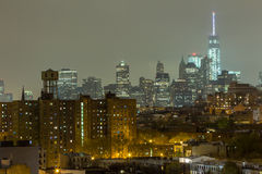 Lower Manhattan cityscape seen from Brooklyn Stock Photography