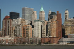 Lower Manhattan da água Foto de Stock Royalty Free