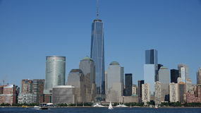 Lower Manhattan de Freedom Tower Fotografia de Stock Royalty Free