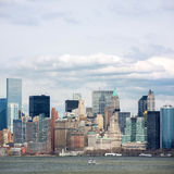 Lower Manhattan de stad in Stock Afbeelding