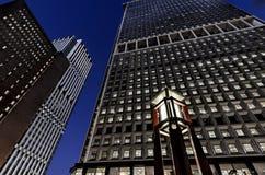 Lower Manhattan drapacz chmur Windows Zaświecający up Obraz Royalty Free