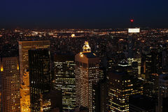 Lower Manhattan at dusk Royalty Free Stock Photos