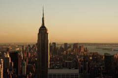 Lower Manhattan at dusk Royalty Free Stock Photo