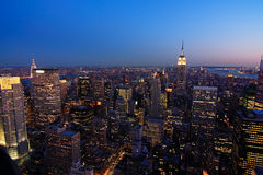 Lower Manhattan at dusk Royalty Free Stock Images