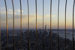 Lower Manhattan at dusk, New York City Stock Images