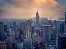 Lower Manhattan at dusk Royalty Free Stock Photography