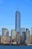 Lower Manhattan e um World Trade Center Fotos de Stock