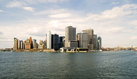 Lower Manhattan and East River Royalty Free Stock Photography