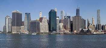 Lower manhattan from the east river - new york Stock Photos