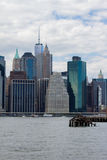 Lower Manhattan and East River Stock Images