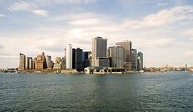 Lower Manhattan ed East River Fotografia Stock Libera da Diritti