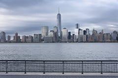 Lower Manhattan en Één World Trade Center of Stad van Freedom Tower New York Royalty-vrije Stock Foto's