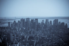 Lower Manhattan en blanco y negro foto de archivo