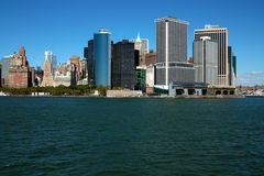 Lower Manhattan Financial District NYC USA. Lower Manhattan Financial District, New York City stock photography