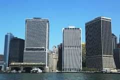 Lower Manhattan and Financial District. Stock Photo