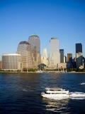 Lower Manhattan Financieel District bij dag Stock Afbeelding