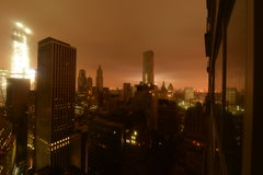 Lower Manhattan following Power Outage. As a result of Hurricane Sandy Royalty Free Stock Photo